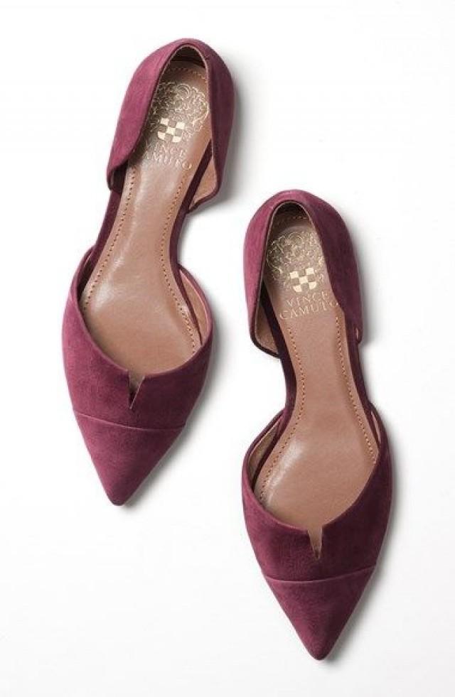 Vince Camuto Halia D Orsay Pointy Toe Flat Women