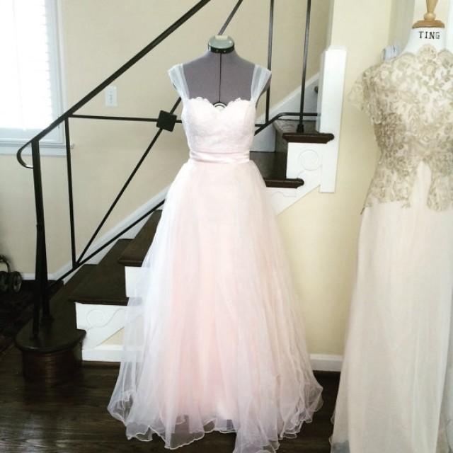 Blush Organza And Soft White Lace 2 Piece Wedding Dress Sample Sale Free Shipping Usa 2350325 Weddbook,Cheap Wedding Dresses For Sale Near Me