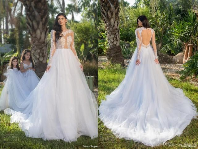 New Arrival Sexy See Through Backless Wedding Dresses