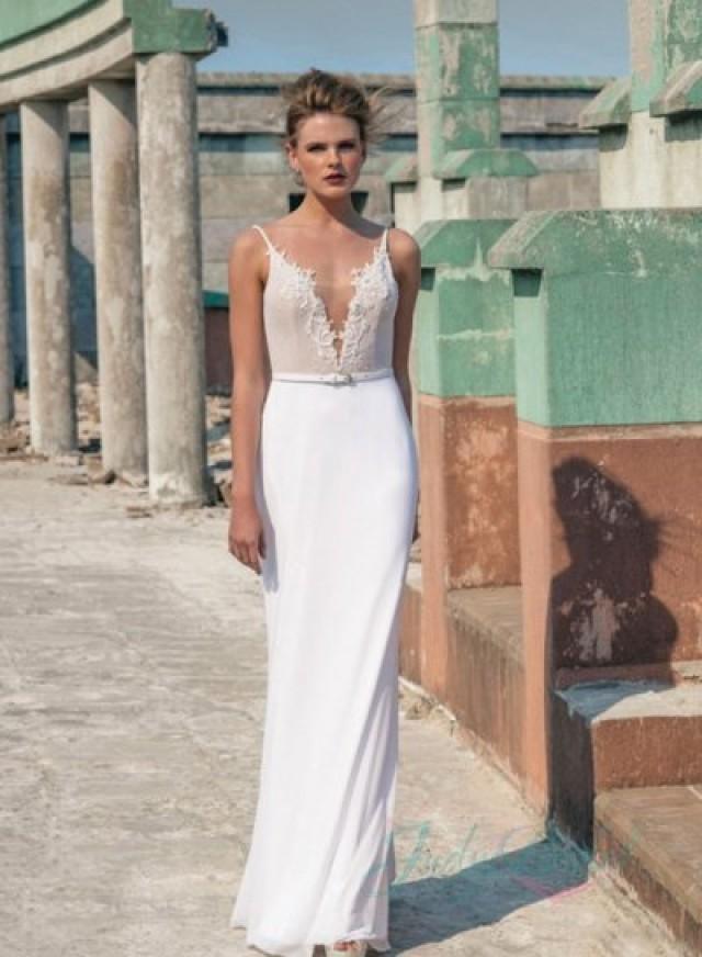 Jw16057 Y Simple Backless Sheath Wedding Dress 2016 2351271 Weddbook