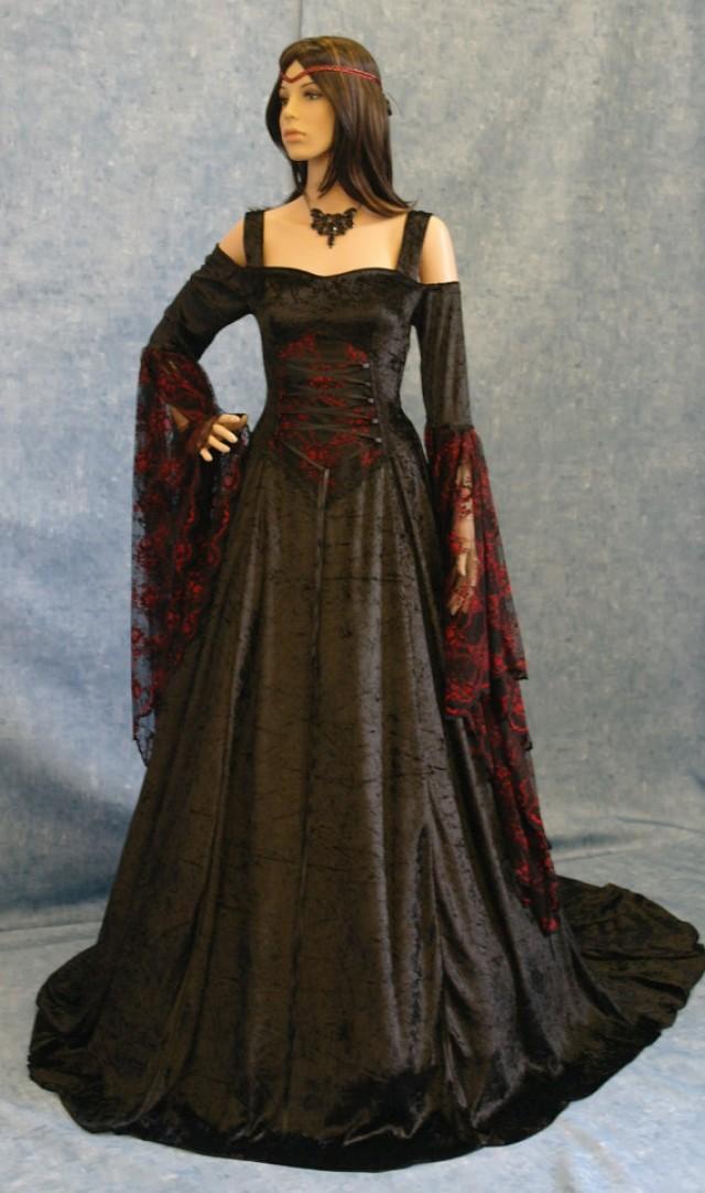 Gothic Dress, Renaissance Dress, Medieval Dress, Halloween ...