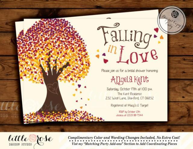 Falling In Love Invitation Fall Wedding Shower Bridal