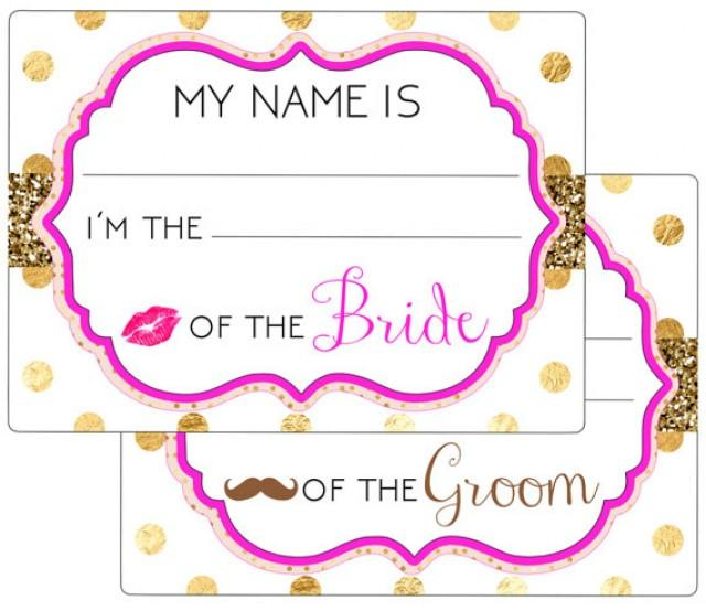Printable name tags event wedding engagement party for Event name tag template