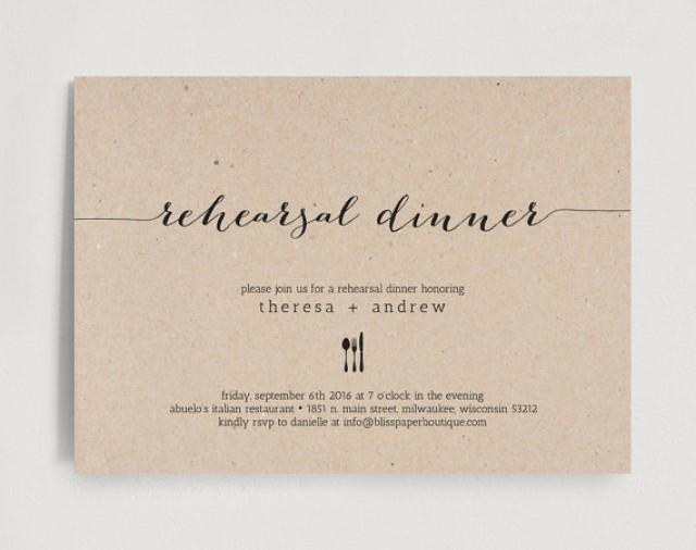 Rehearsal Dinner Invitation Wedding Editable Template