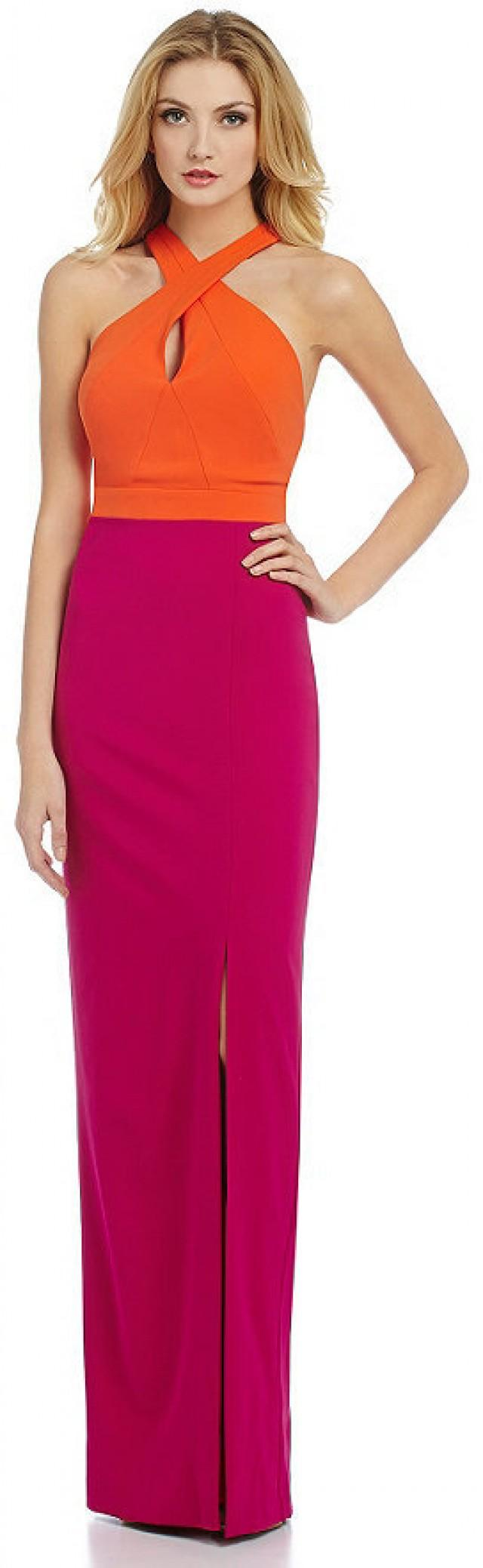 Nicole Miller Collection Cece Techy Crepe Halter Gown #2353915 ...