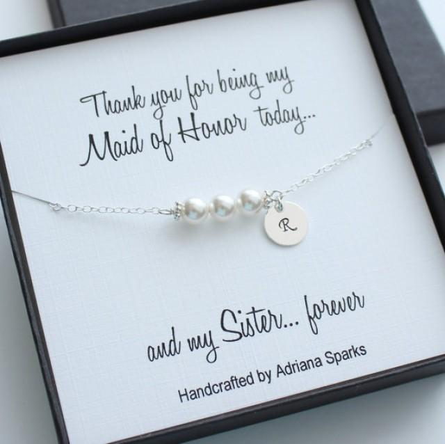 Personalized Maid Of Honor Gifts, Personalized Pearl