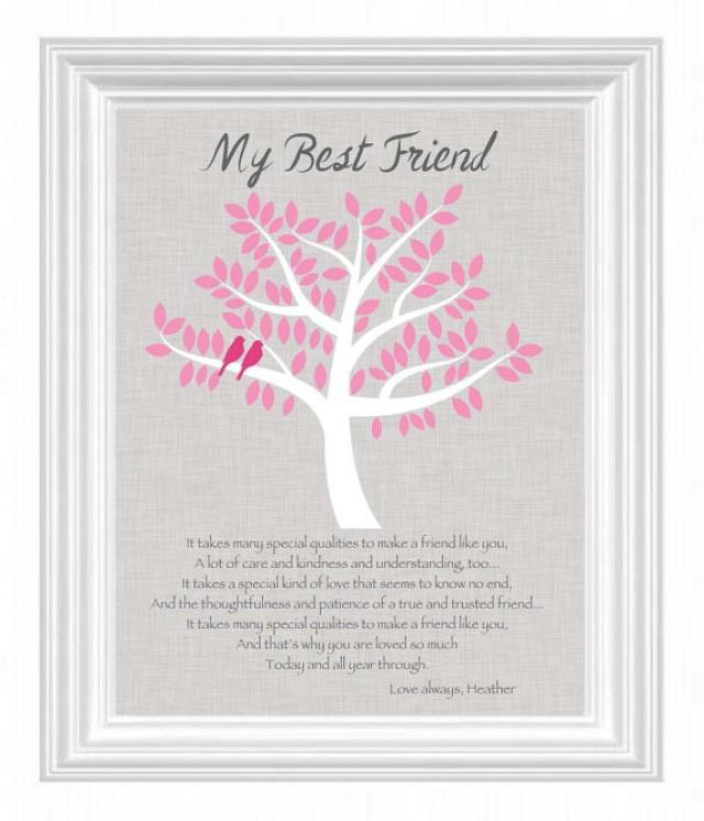 Wedding Gift For Best Friend: Personalized Gift For A Special Friend