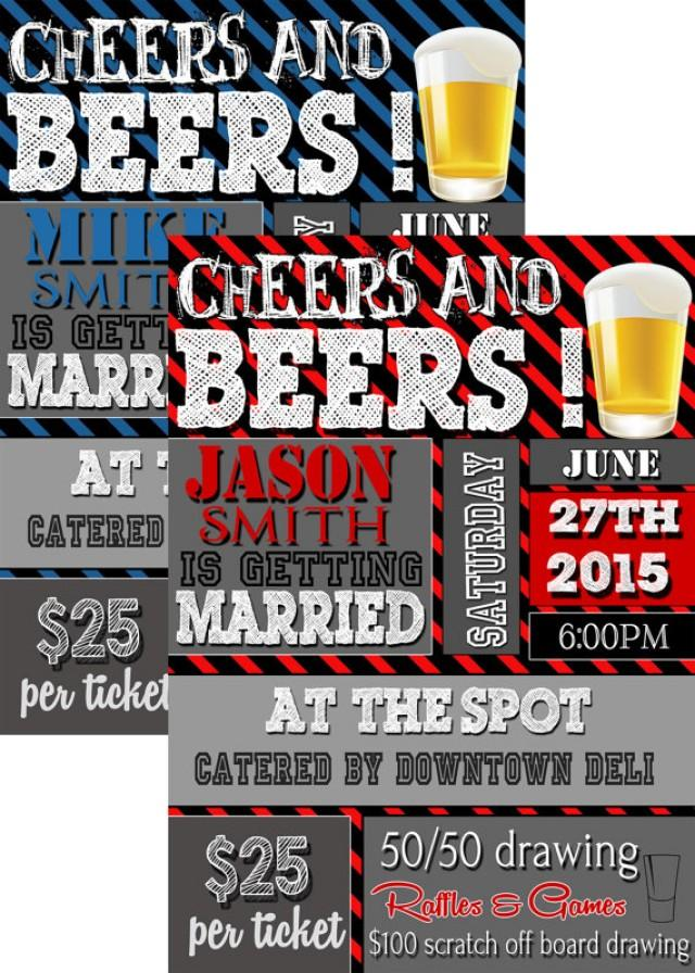 Cheers And Beers He Is Getting Married Invitation Unique Stag Party Invites Tickets Bachelor Announcement 2354765