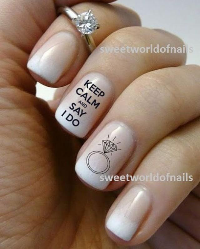 Wedding Nail Art Water Decals/ Water Transfers I Do Nails Wedding ...