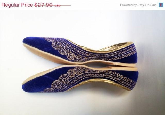 Velvet Ballet Flat Shoes