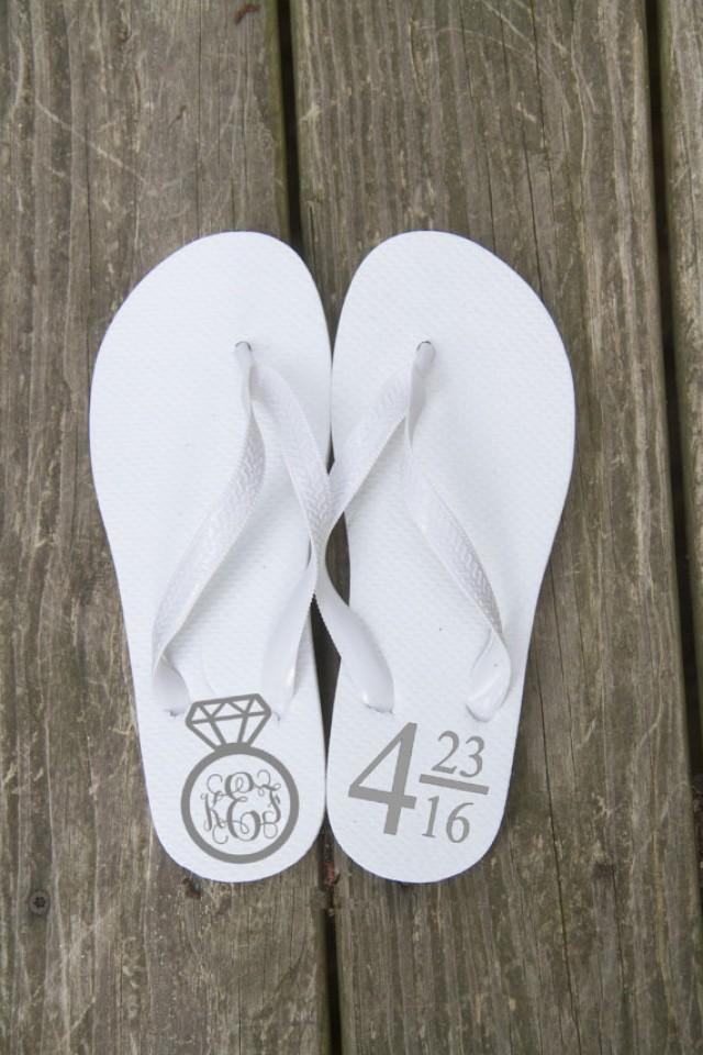 c89bd7f68e420 Accessories - Personalized Bride  Wedding Flip Flops  2355303 - Weddbook