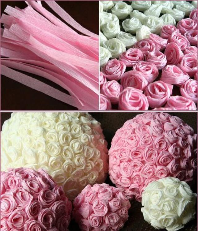 Как сделать бумажный декор из роз