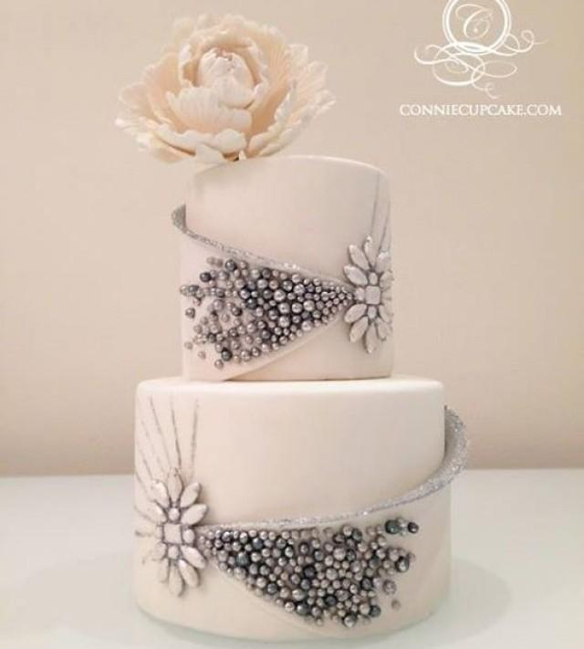 Luxury Jeweled Two-Tiered Cake #2357618