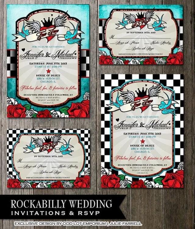 rockabilly wedding invitations - Wedding Decor Ideas