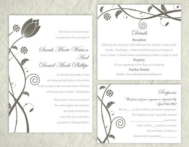 Printable Wedding Invitation Sets: Printable Wedding Invitation Suite Printable Invitation