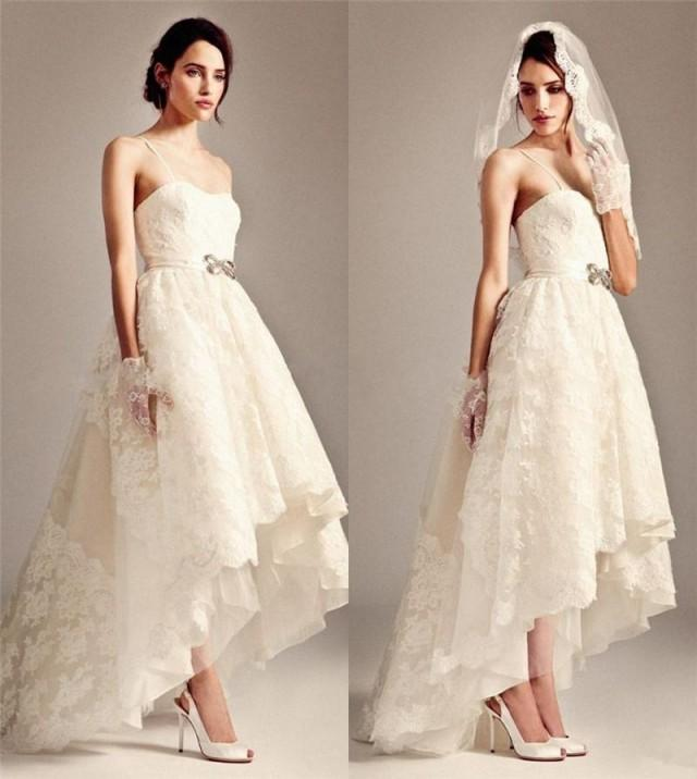 Greek Style Boho Bohemian Wedding Dresses Spaghetti Straps: Stunning Lace Boho Bohemian Wedding Dresses 2016 A Line
