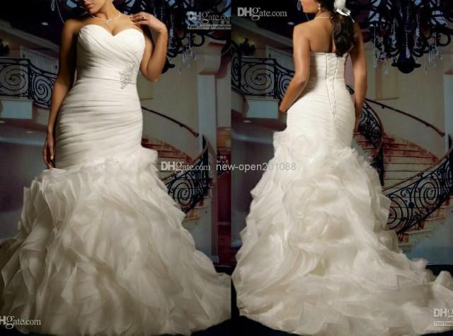 Strapless Mermaid Wedding Gown: 2014 New Custom Plus Size Sexy Sweetheart Strapless