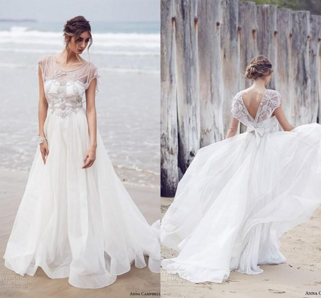 Anna Campbell Wedding Gowns: New Arrival Anna Campbell Wedding Dresses 2016 A Line