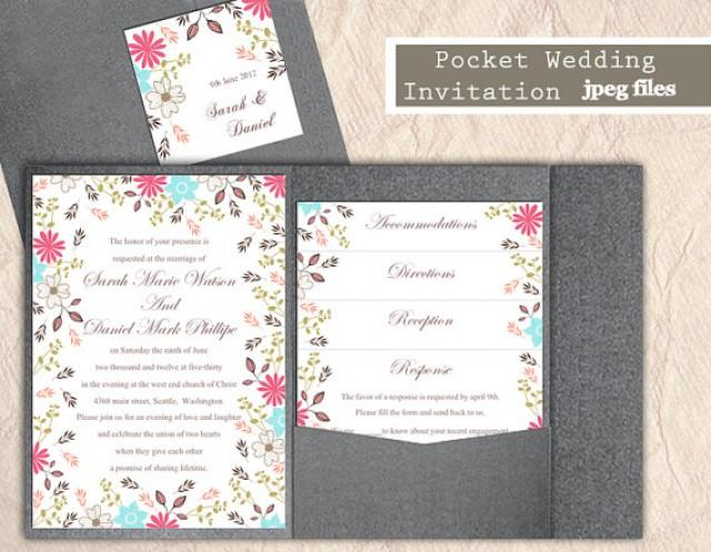 Printable pocket wedding invitation suite printable invitation printable pocket wedding invitation suite printable invitation colorful invitation floral invitation download invitation edited jpeg file 2362918 stopboris Image collections