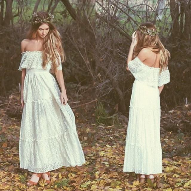 Ivory Greek Goddess 2017 Ivory Bohemia Wedding Dresses: Stunning Bohemian 2016 Vintage Wedding Dresses Off-the