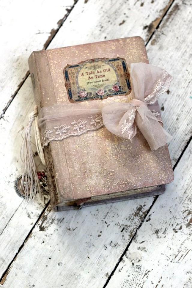 Fairytale Wedding Guest Book Blush Pink Photo Album