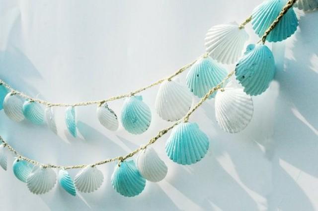 Beach Wedding Garland Seashell Lt Blue