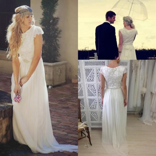 Affordable Wedding Gowns Online: Romantic Bohemian Beach Wedding Dresses 2016 Sash Garden