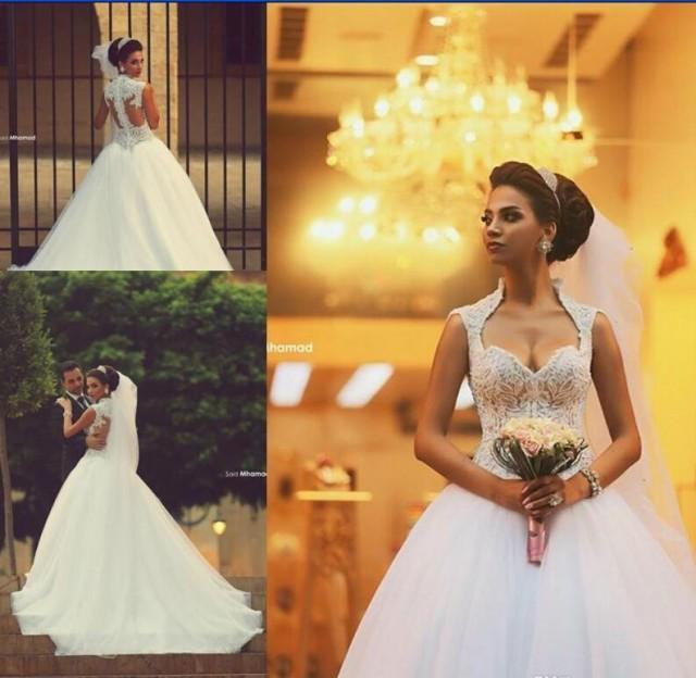Winter Wedding Gowns 2015: 2015 Sweetheart Saudi Arabic Backless Winter Wedding
