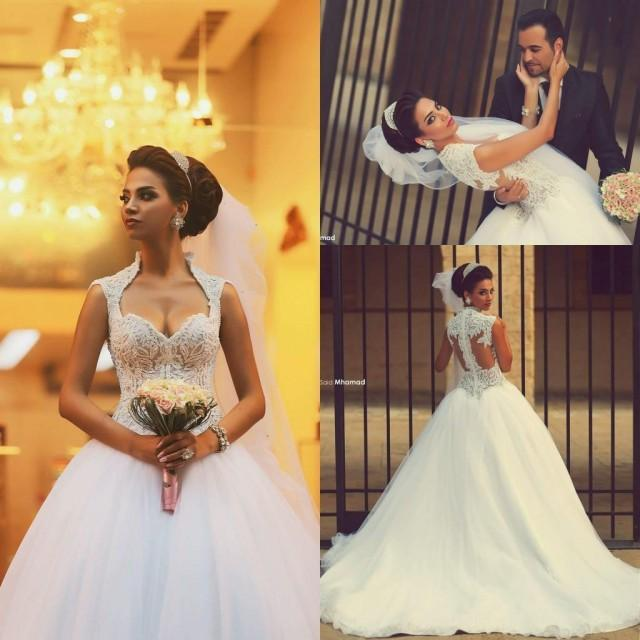2016 New Plus Size Ball Gown Lace Wedding Dresses 2015