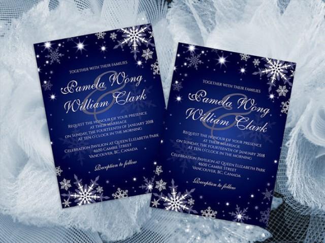 Wedding Invitation Card Download: DIY Printable Wedding Invitation Card Template #2364699