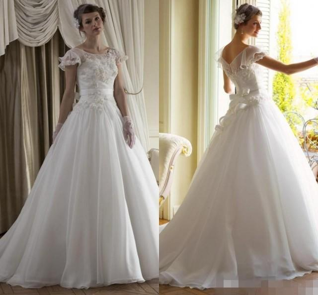 New collection vintage wedding dresses 2015 cap sleeve for Where to buy cheap wedding dresses online
