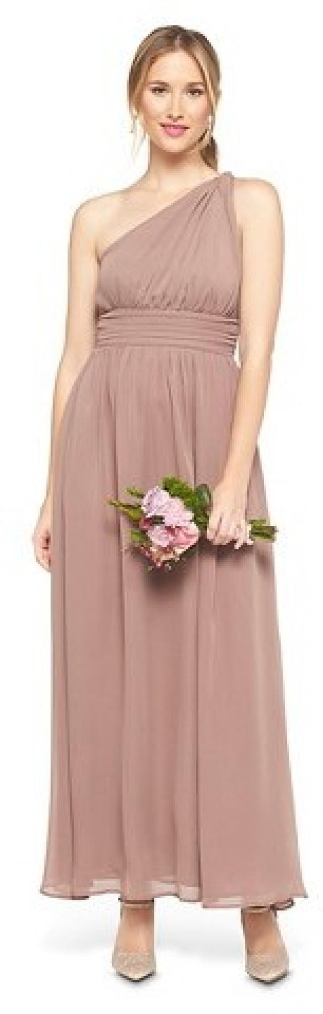 ce0353c154 Tevolio Women s Chiffon One Shoulder Maxi Bridesmaid Dress Cocoa 4  2365338  - Weddbook