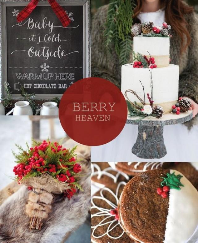 Christmas Wedding Theme Ideas: Hot Christmas Winter Wedding Color Palette Ideas #2365410