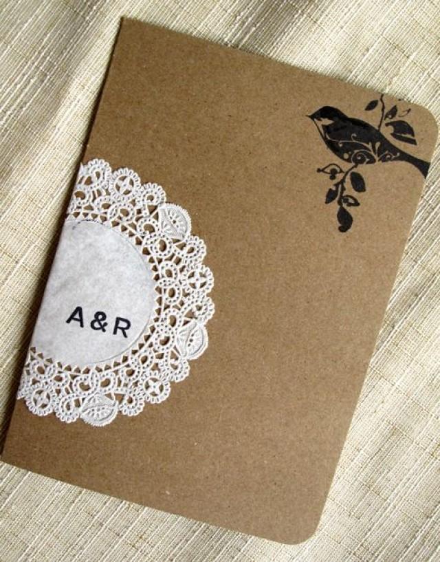 Raechel Alex\'s Crafty Doily And Kraft Paper Wedding Invitations ...