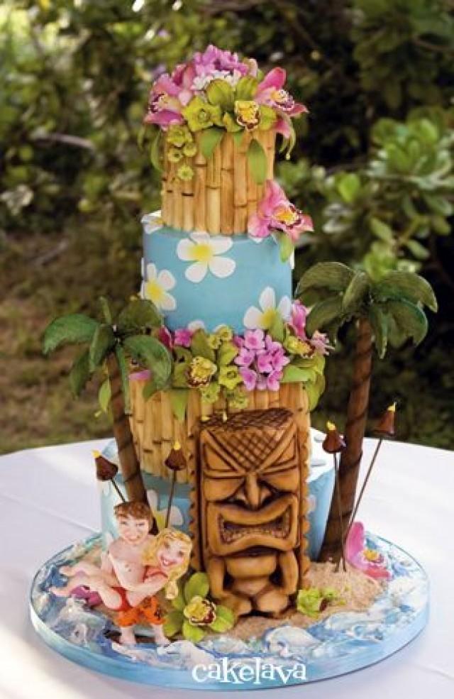 Wedding Theme Tropical Luau Cakes 2 2367498 Weddbook