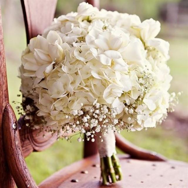 White Wedding Gown Hydrangea: White Hydrangea Bridal Bouquet #2369043