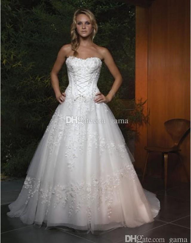 2015 sale real photos new design wedding dresses strapless for A line skirt wedding dress