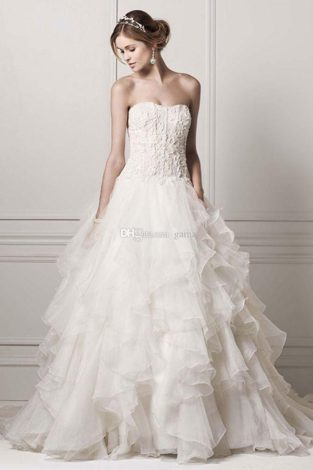 Plus Size Wedding Dresses With Corset Bodice And Beadings ...