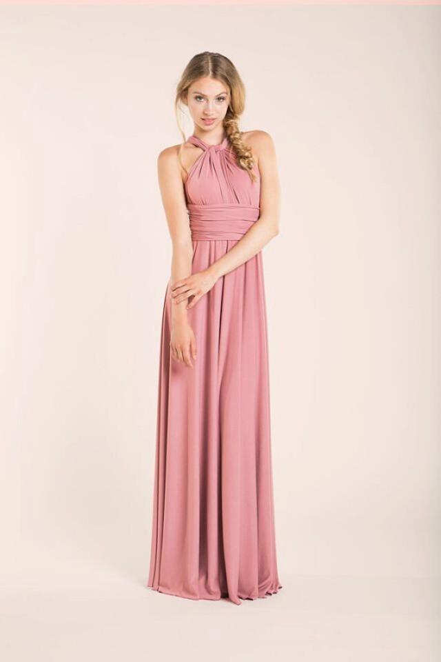 Powder Pink, Rosa Palo, Bridesmaid Long Dress, Bridesmaids Dresses ...