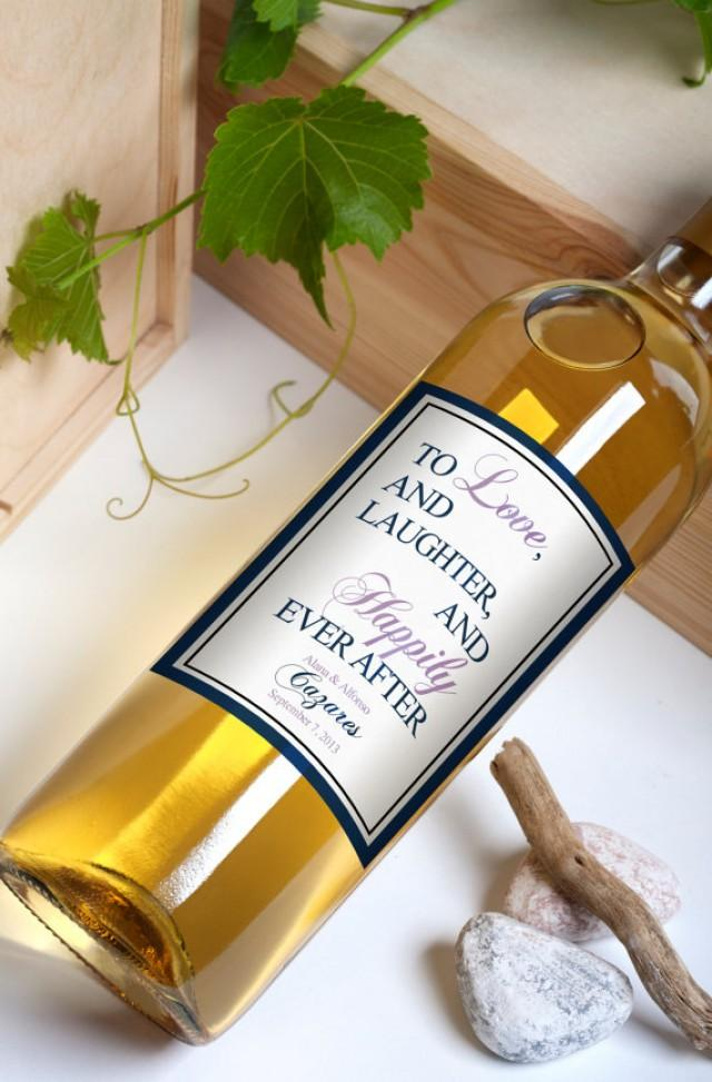 Custom Wine Bottle Labels Personalized Wedding Favors