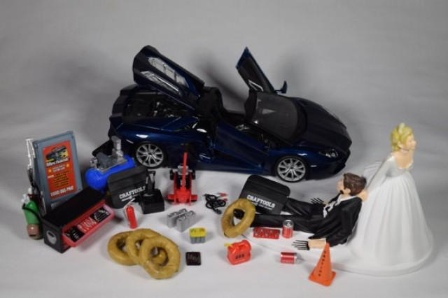 Auto Mechanic Birthday Cake Topper