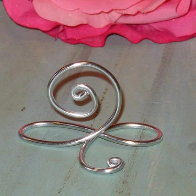 100 Silver Infinity Bow Wire Name Place Cards Or Small Table