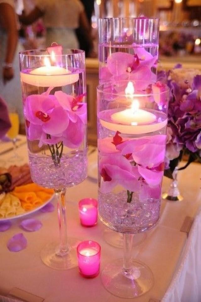 Wedding Table Centerpieces Bright Pink Diy