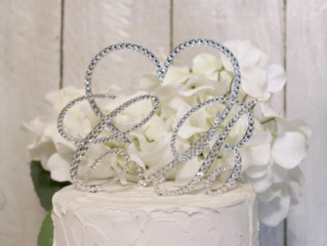 Letter B Wedding Cake Topper