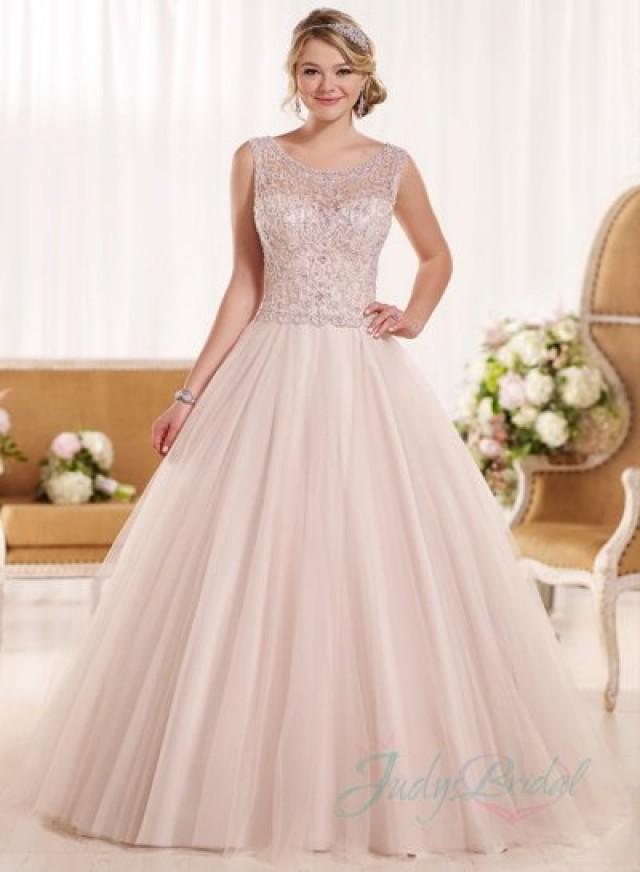 Illusion Scoop Neck Beading Embroidery Princess Ballgown Wedding Dress 2376170 Weddbook