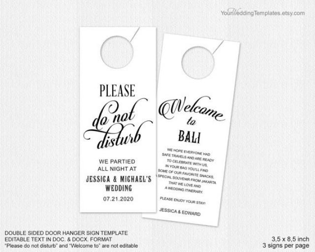 decor wedding door hanger template 2380115 weddbook