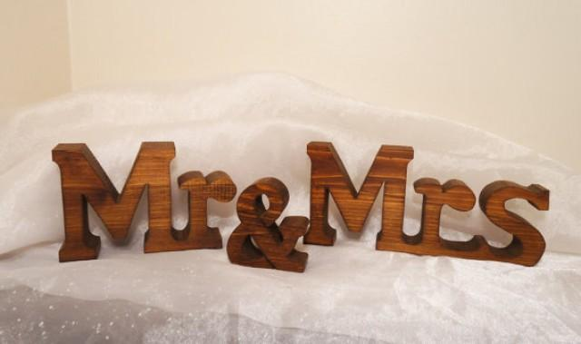 Chunky Mr And Mrs Wedding Sign Letters For Wedding