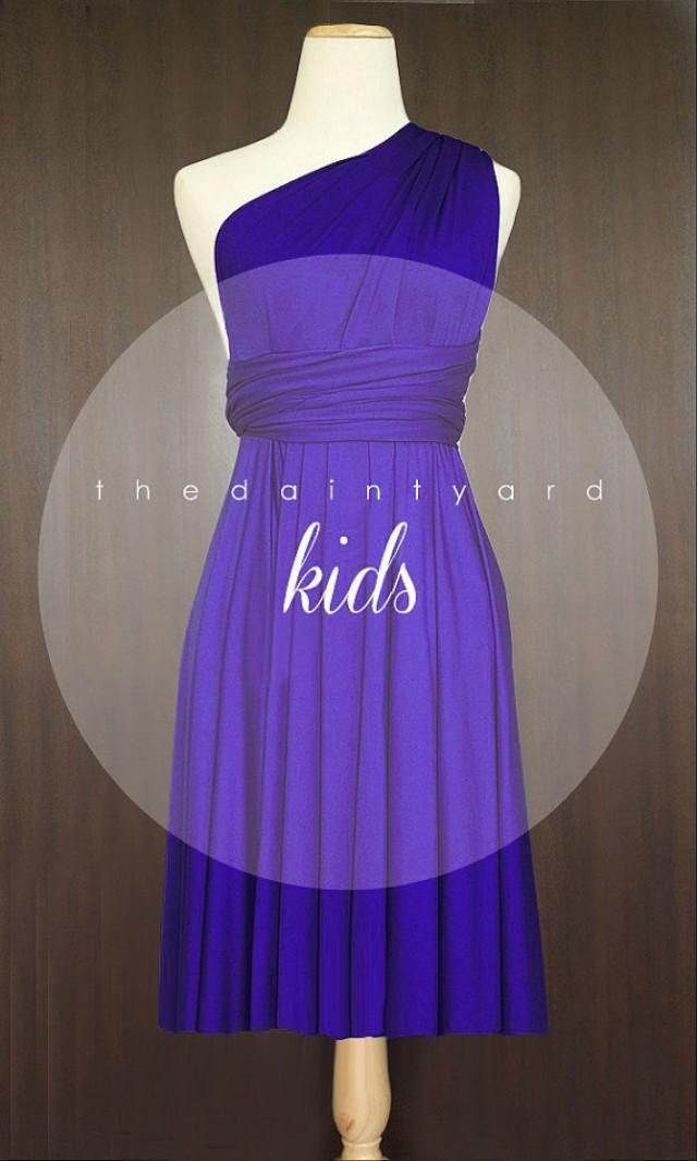 Kids Royal Blue Bridesmaid Convertible Dress Infinity