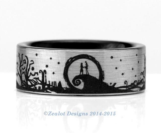Nightmare Before Christmas Wedding Rings