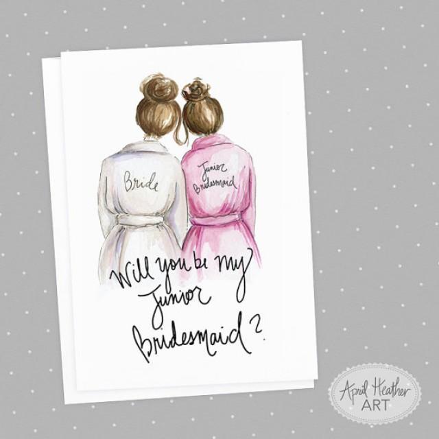 Junior Bridesmaid PDF Download Brunette Bride, Brunette